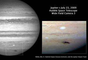 New expanding spot on the giant planet Jupiter. Credit: NASA, ESA, and H. Hammel (Space Science Institute, Boulder, Colo.), and the Jupiter Comet Impact Team.